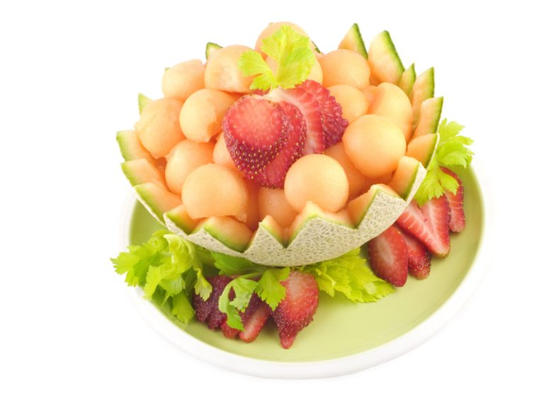 Cantaloupe Ball Bowl