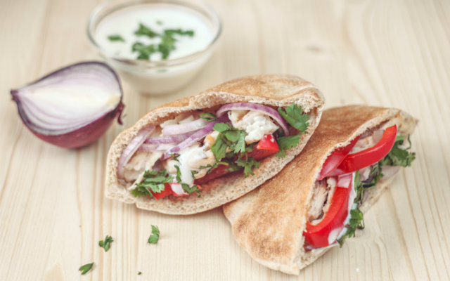 Greek Pita With Feta Vinaigrette