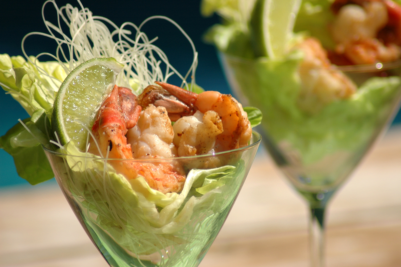 Shrimp Cocktail with Lime