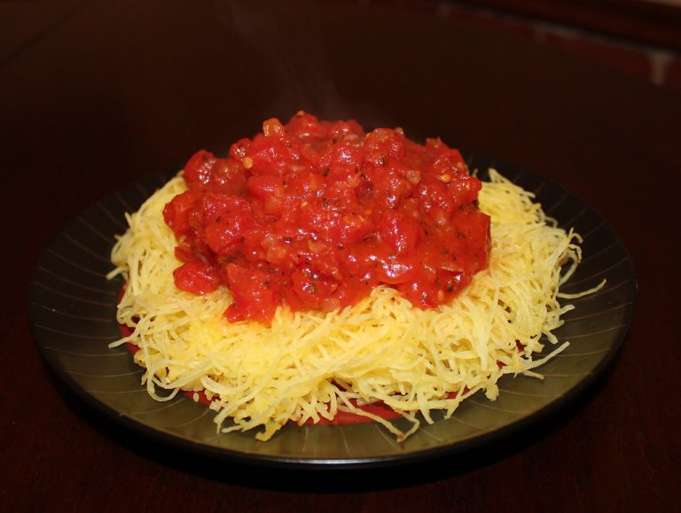 Roasted Spaghetti Squash and Marinara Sauce