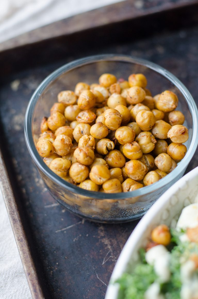 Hot and Spicy Roasted Chickpeas