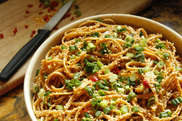Zucchini Noodles With Toasted Almonds