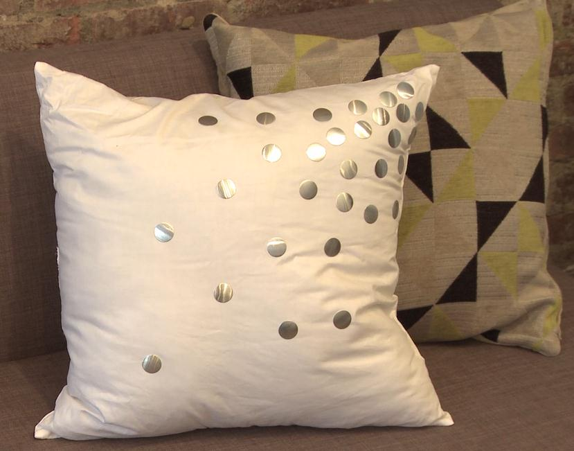 Luxe Polka Dot Pillows by DIY Expert Jenni Radosevich